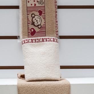 Набор полотенец Karna ELDORE 30х50(2) бежевый