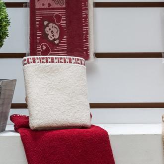 Набор полотенец Karna ELDORE 30х50(2) бордовый