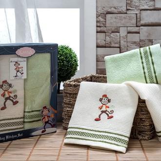 Набор полотенец Karna TERA 40х65(2) зелёный