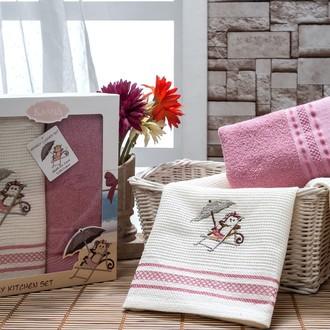 Набор полотенец Karna NAVI 40х65(2) грязно-розовый