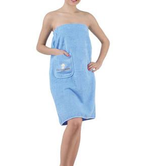 Набор для сауны женский Karna PARIS хлопковая махра голубой