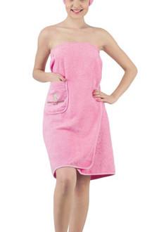 Набор для сауны женский Karna PARIS хлопковая махра розовый