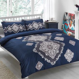Комплект постельного белья TAC SATIN DELUX DIANE синий