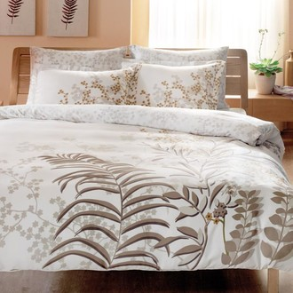 Комплект постельного белья TAC SATIN DELUX SANTIAGO белый