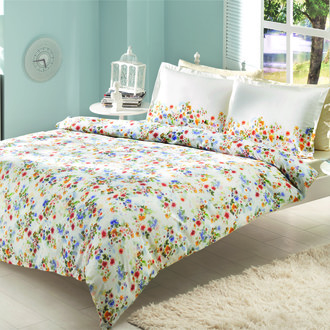 Комплект постельного белья TAC SATIN DELUX FIONA голубой