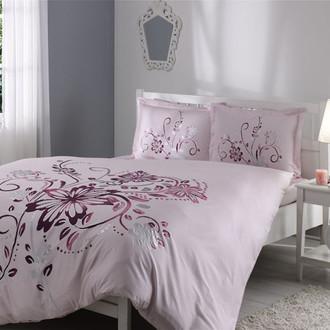 Комплект постельного белья TAC SATIN DELUX PERRY розовый