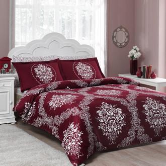 Комплект постельного белья TAC SATIN VALENTINA бордовый