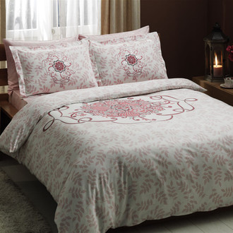 Комплект постельного белья TAC SATIN ALISSA розовый