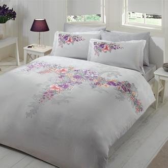 Комплект постельного белья TAC SATIN LONA серый