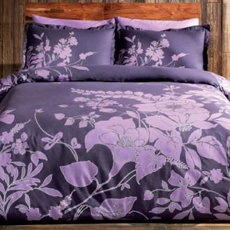 Комплект постельного белья TAC SATIN SONGE фиолетовый