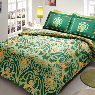 Комплект постельного белья TAC SATIN TORIUM зелёный