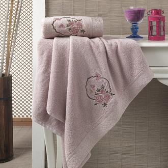 Набор полотенец Karna DEMET 50х90, 70х140 грязно-розовый