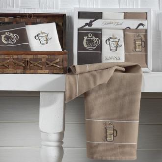 Набор полотенец Karna STIL 45х703 кофе-1