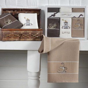 Набор полотенец Karna STIL 45х703 кофе-2 45 х 70 см 3 шт.