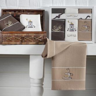 Набор полотенец Karna STIL 45х703 кофе-2