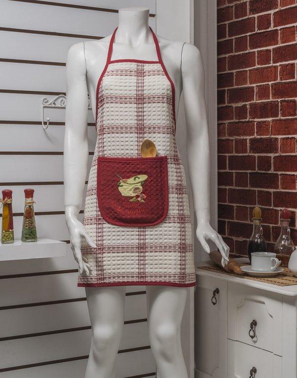 Фартук Karna вафельный бордовый, фото, фотография