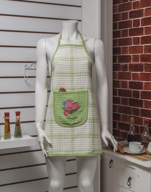 Фартук Karna вафельный зелёный, фото, фотография