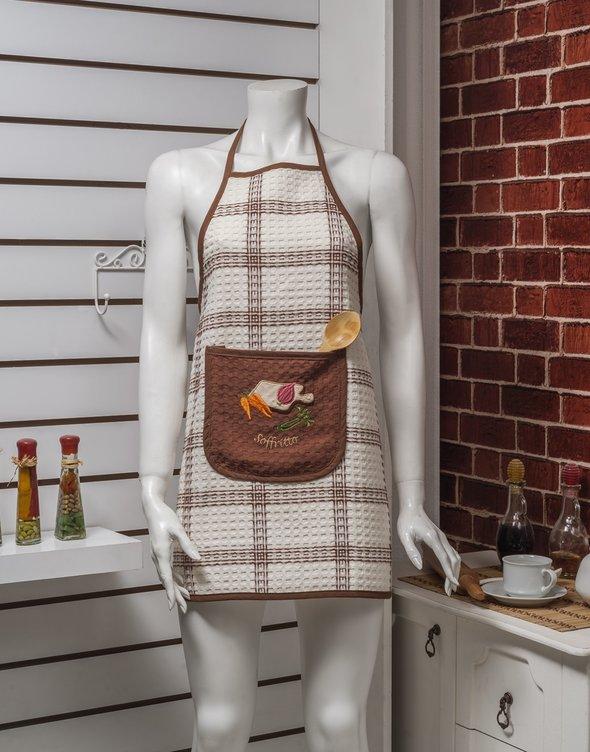Фартук Karna вафельный коричневый, фото, фотография