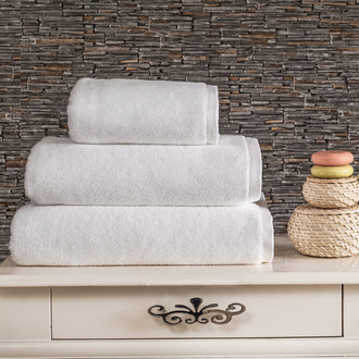 Полотенце для ванной Karna MORA микрокоттон хлопок (белый)