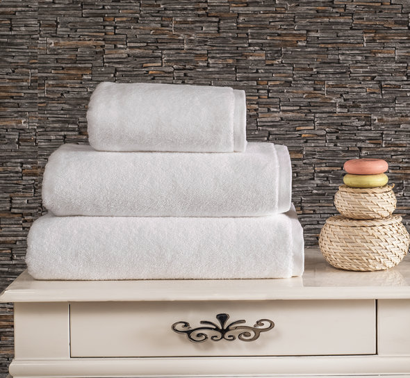 Полотенце для ванной Karna MORA микрокоттон хлопок белый 50х90, фото, фотография