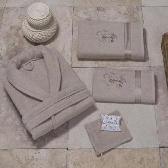 Халат с полотенцами NURPAK BIOFLORES коричневый