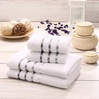 Подарочный набор полотенец для ванной Karna BALE хлопковая махра 50*80(2), 70*140(2) (белый)