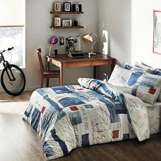 Комплект постельного белья TAC RANFORCE FREEMOOD DENIM голубой