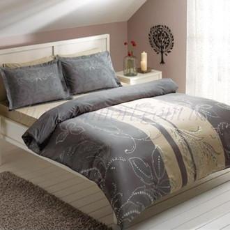Комплект постельного белья TAC SATIN DELUX VILLA серый