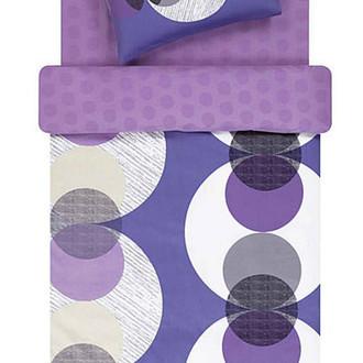 Комплект постельного белья TAC SATEN FREEMOOD DOMINO фиолетовый