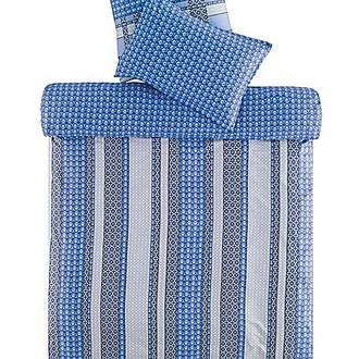 Комплект постельного белья TAC SATEN FREEMOOD LEIKO синий