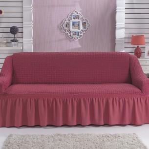 Чехол на диван Bulsan BURUMCUK грязно-розовый трёхместный