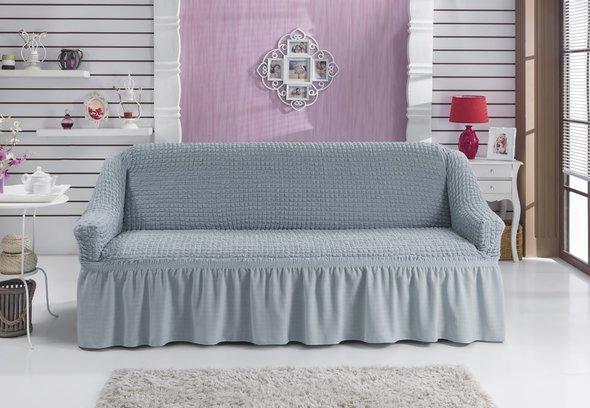 Чехол на диван Bulsan BURUMCUK (серый) трёхместный, фото, фотография
