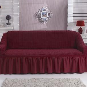 Чехол на диван Bulsan BURUMCUK бордовый двухместный
