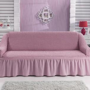 Чехол на диван Bulsan BURUMCUK светло-розовый двухместный