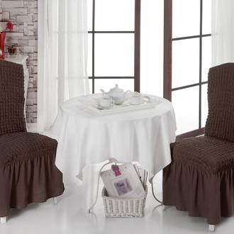 Набор чехлов на стулья (2 шт.) Bulsan BURUMCUK (коричневый)