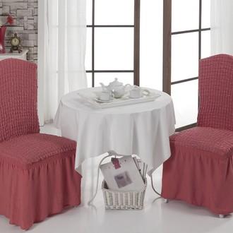 Набор чехлов на стулья (2 шт.) Bulsan BURUMCUK (грязно-розовый)