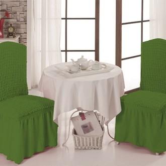 Набор чехлов на стулья 2 шт. Bulsan BURUMCUK зелёный