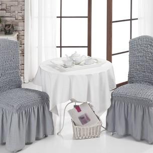 Набор чехлов на стулья 2 шт. Bulsan BURUMCUK серый