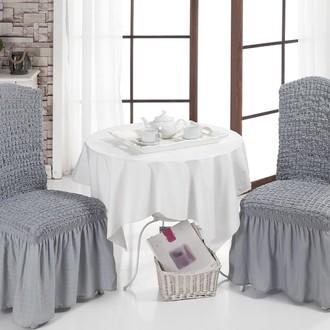 Набор чехлов на стулья (2 шт.) Bulsan BURUMCUK (серый)