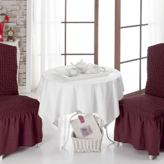 Набор чехлов на стулья (2 шт.) Bulsan BURUMCUK (бордовый)