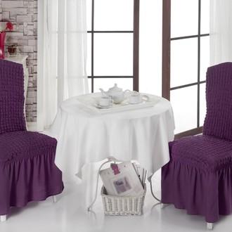 Набор чехлов на стулья 2 шт. Bulsan BURUMCUK фиолетовый
