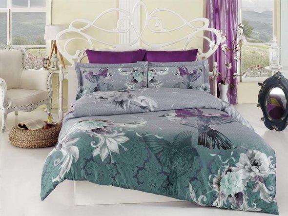Комплект постельного белья Karna DELUX SILVA семейный, фото, фотография