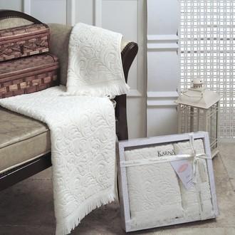 Набор полотенец Karna ESRA кремовый