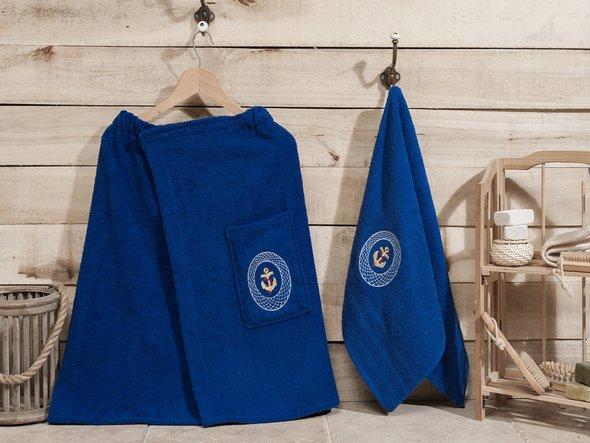 Набор для сауны Karna PALAMAR синий, фото, фотография