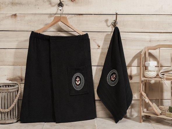 Набор для сауны Karna PALAMAR чёрный, фото, фотография