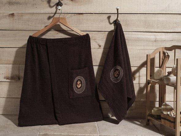 Набор для сауны Karna PALAMAR коричневый, фото, фотография