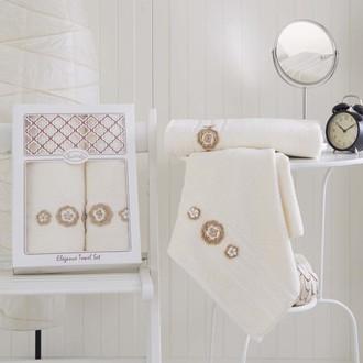 Набор полотенец Karna ELEGANCE кремовый
