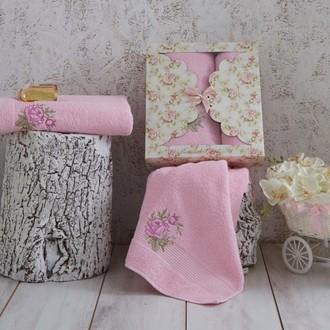 Набор полотенец Karna ROMANS розовый