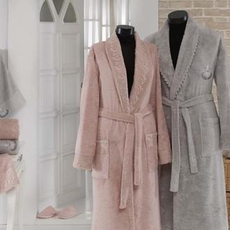 Набор халатов Gonca HAZAN серый-пудра
