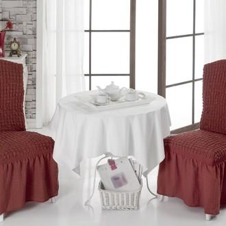 Набор чехлов на стулья (2 шт.) Bulsan BURUMCUK (кирпичный)